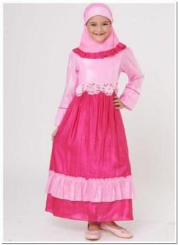 baju muslim anak perempuan dannis