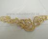 Contoh renda bordir tempel untuk kebaya warna emas