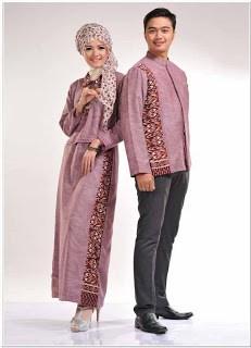 Gamis batik kombinasi blazer 2018