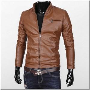 jaket kulit simple