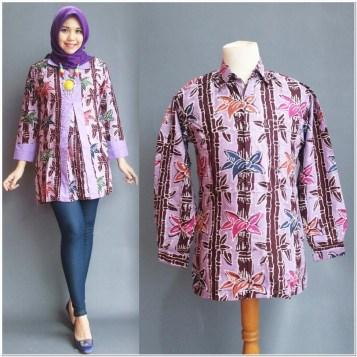Inspirasi Model atasan batik wanita muslimah