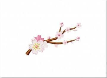 Contoh Bordir Bunga Sakura