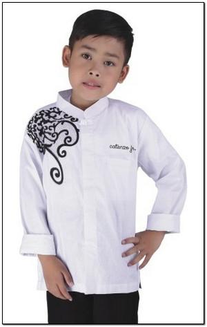 Koleksi Baju koko anak laki laki warna putih
