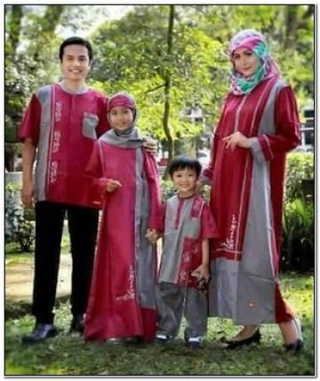 Contoh Terbaik Model baju couple keluarga buat lebaran
