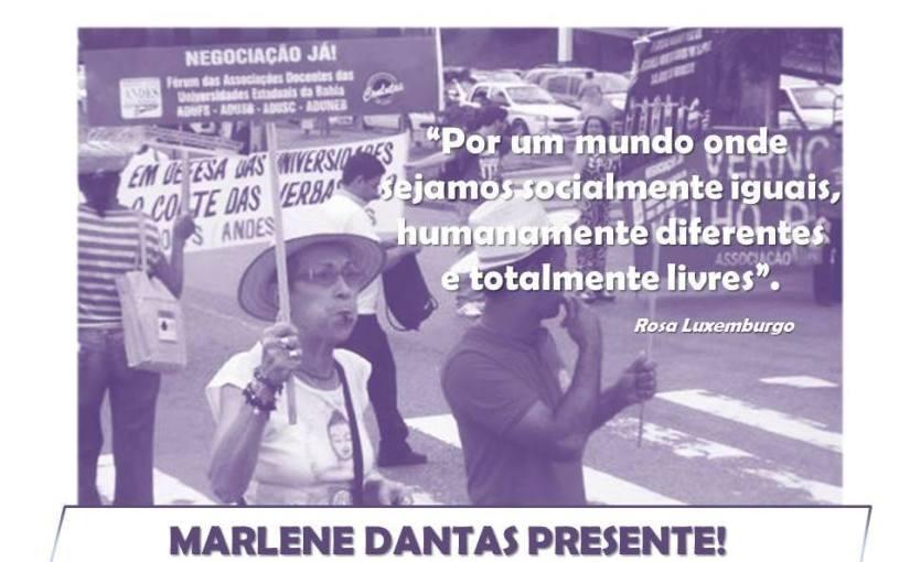 Homenagem póstuma a professora Marlene Dantas será hoje