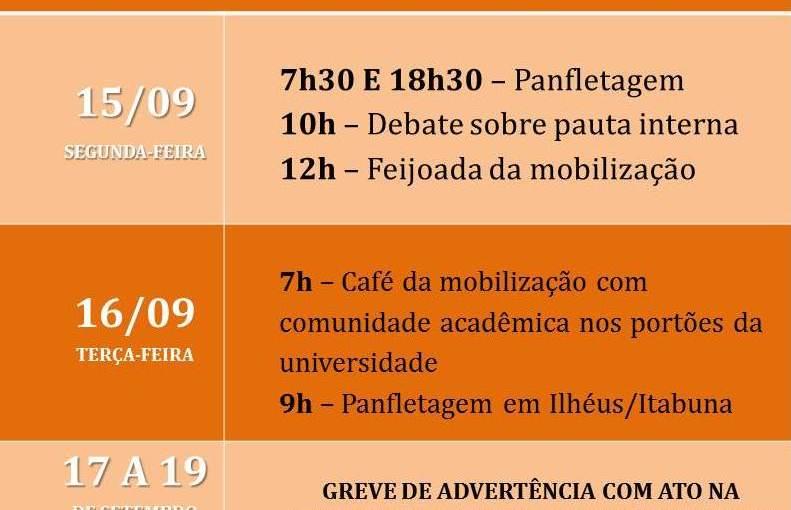 Orçamento: Assembleia docente aprova Semana de Mobilização e Luta com Greve de Advertência