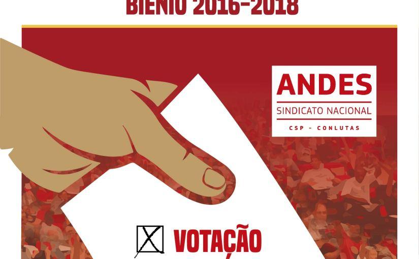 ANDES-SN:  Eleição para a nova diretoria começa nesta terça-feira (10)