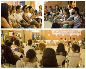 """Plenária discutiu """"A universidade que temos e a universidade que queremos"""". Fotos: Estudantes da UESC em Luta"""