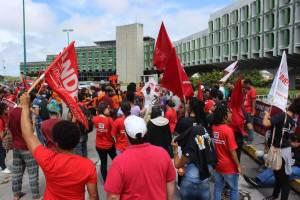 Paralisação estadual e manifestação na Secretaria de Educação. Foto: Ascom Aduneb