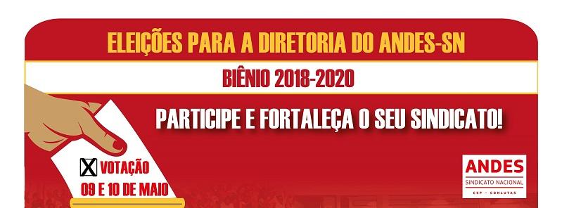 Eleição para a diretoria do Andes-SN nas Universidades Estaduais da Bahia