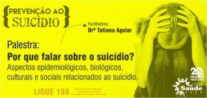 CDRH - CAMPANHA CONTRA SUICÍDIO - PALESTRA POR QUE FALAR SOBRE SUICIDIO - slidshow