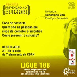 CDRH - CAMPANHA CONTRA SUICÍDIO - PROGRAMAÇÃO 06-09