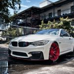 Alpine White Bmw M4 Red Adv10 M V2 Cs Series Wheels