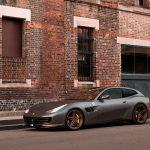 Matte Gray Ferrari Gtc4 Lusso S Looking Superb With Adv 1 Advanced Series Wheels Adv 1 Wheels