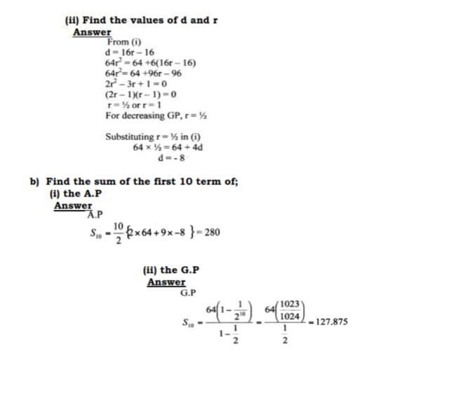 KCSE Mathematics Past Paper 2 2016: Free Tips 23