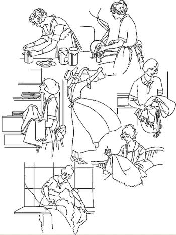Advanced Embroidery Designs Housework Redwork Set