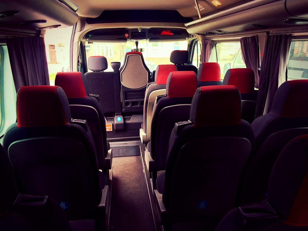 Inside our fleet - Master Minibus Hire