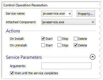 Sevice Control Parameters