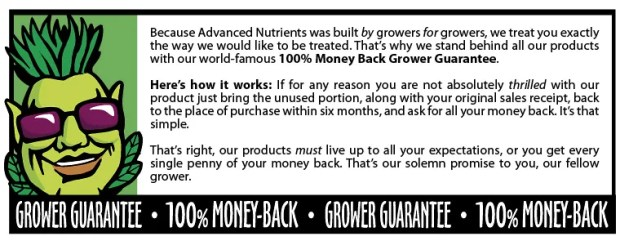 Grower Guarantee white - Advanced Nutrients  - Bud Candy