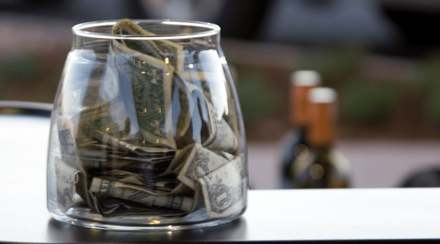 Poker tip jar