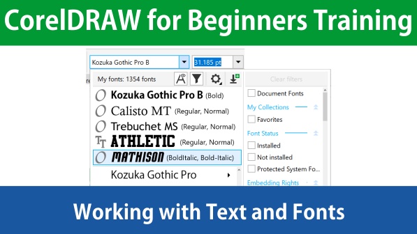 Download CorelDRAW for Beginners Tutorial Text and Fonts File ...