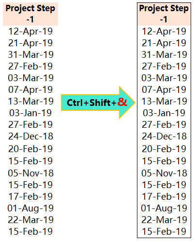 Excel Shortcut Ctrl+Shift+&