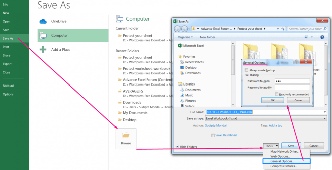 How to Protect Excel Workbook_3