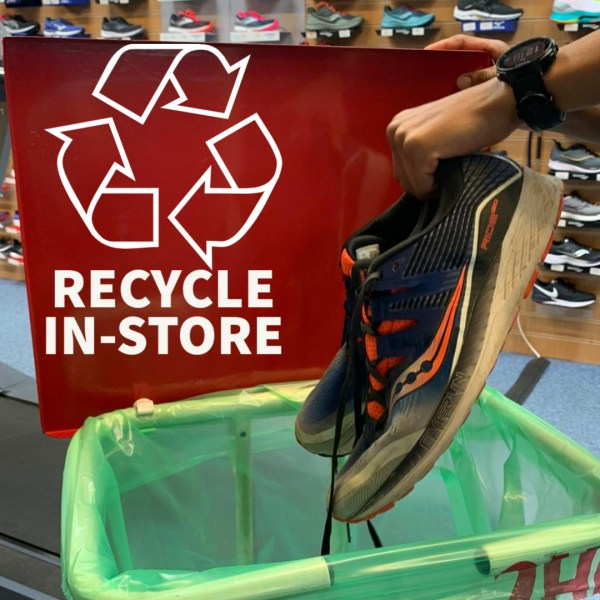 Recycle your running shoes in-store