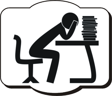 This is the clip-art of student that is mentally disturb and a lot of study burden.