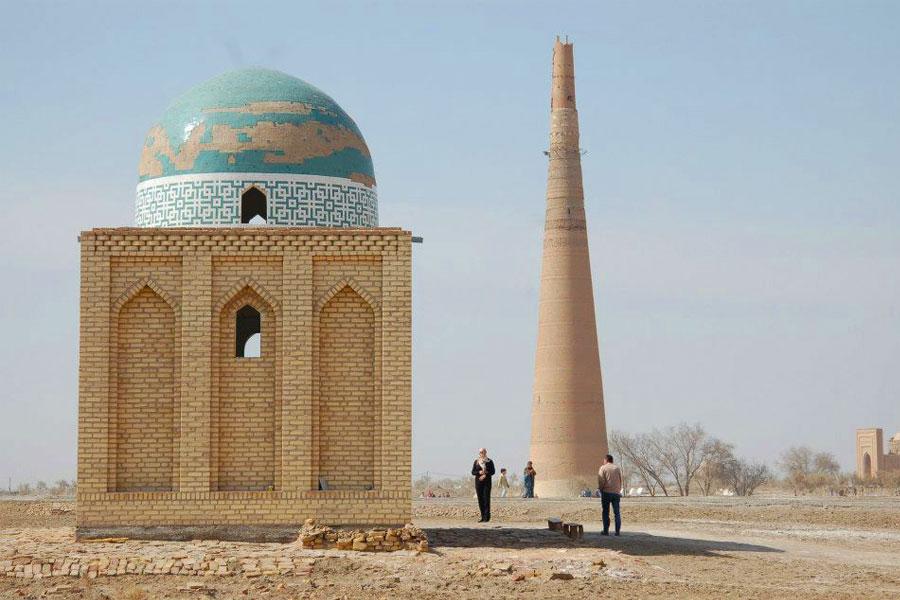 Kunya Urgench Landmarks Minaret Of Kutlug Timur