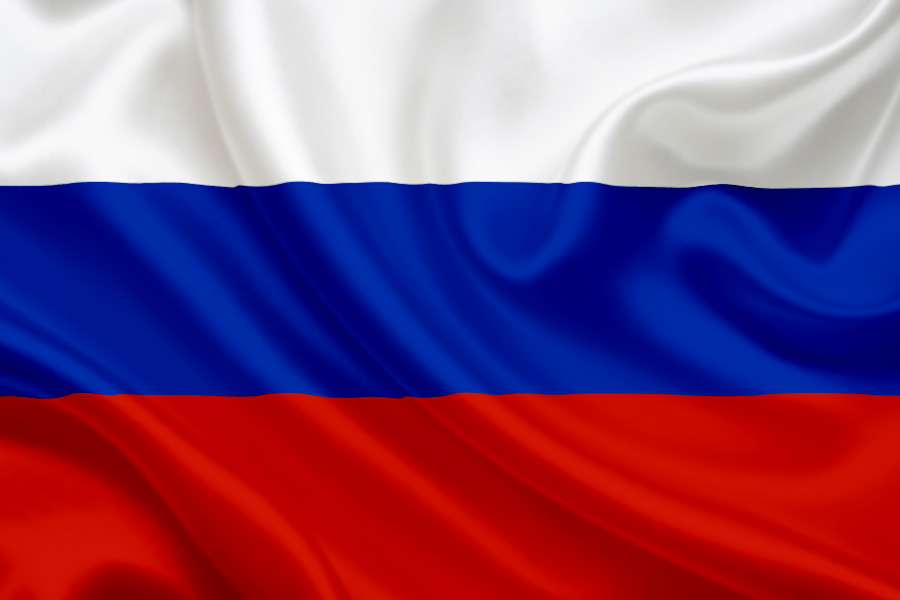 The Russian flag is *also* red, white and blue.