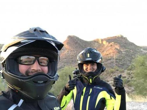Two motorcycle riders