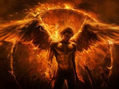 art-imaliea-man-angel-fire-wings-arms-fantasy