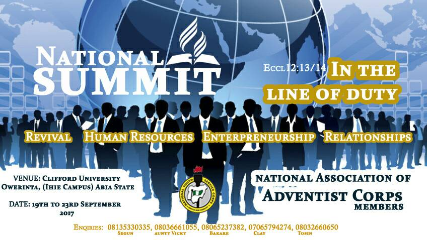 The National Association of Adventist Corps (NAAC) to hold first National Summit at Clifford University
