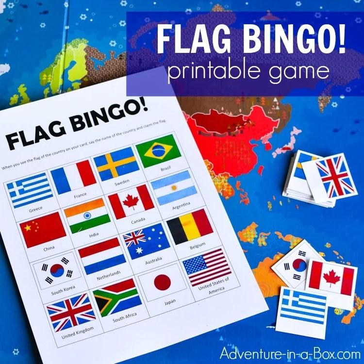 Flags Of The World Bingo Printable Game For Kids