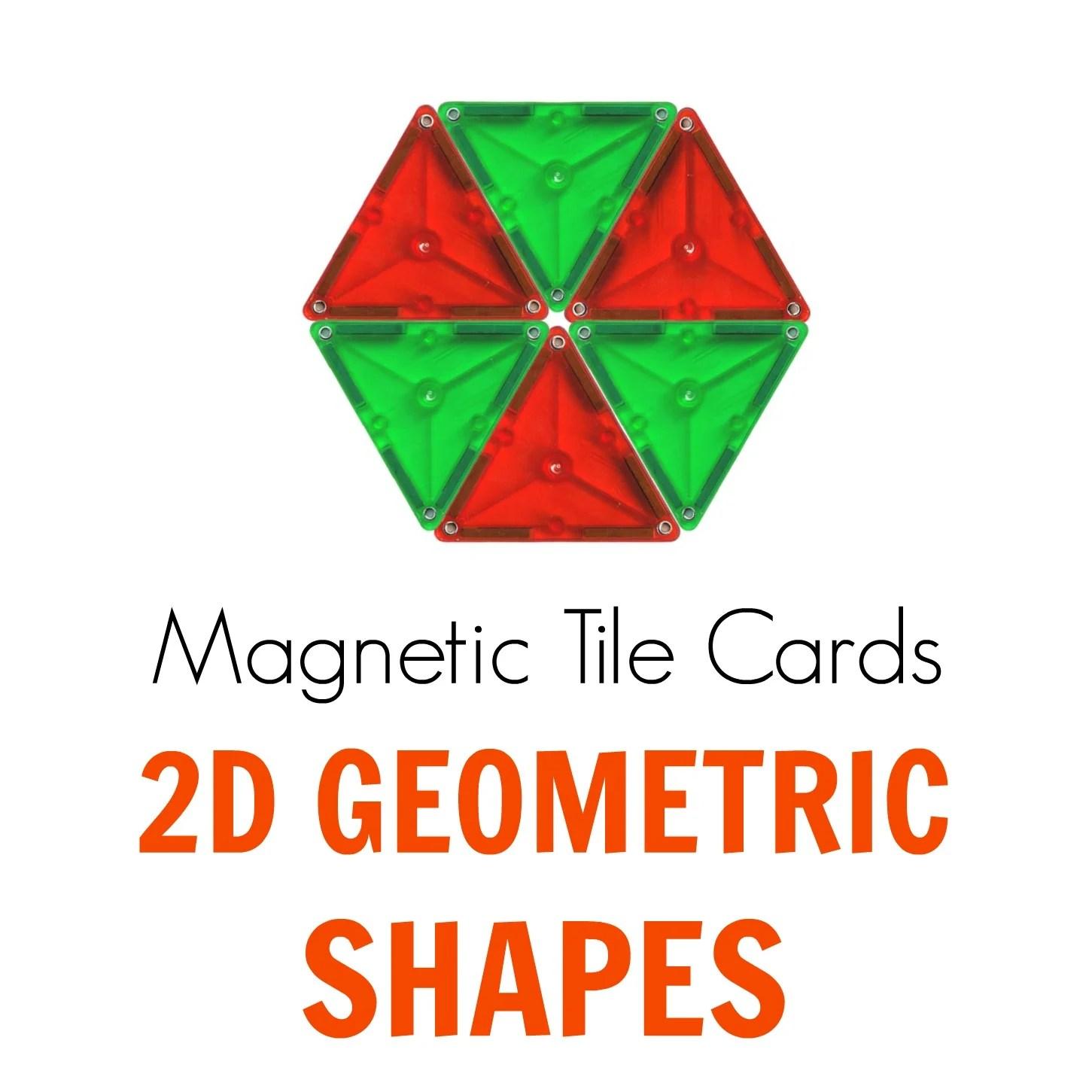 Magnetic Tiles Idea Cards 2d Geometric Shapes