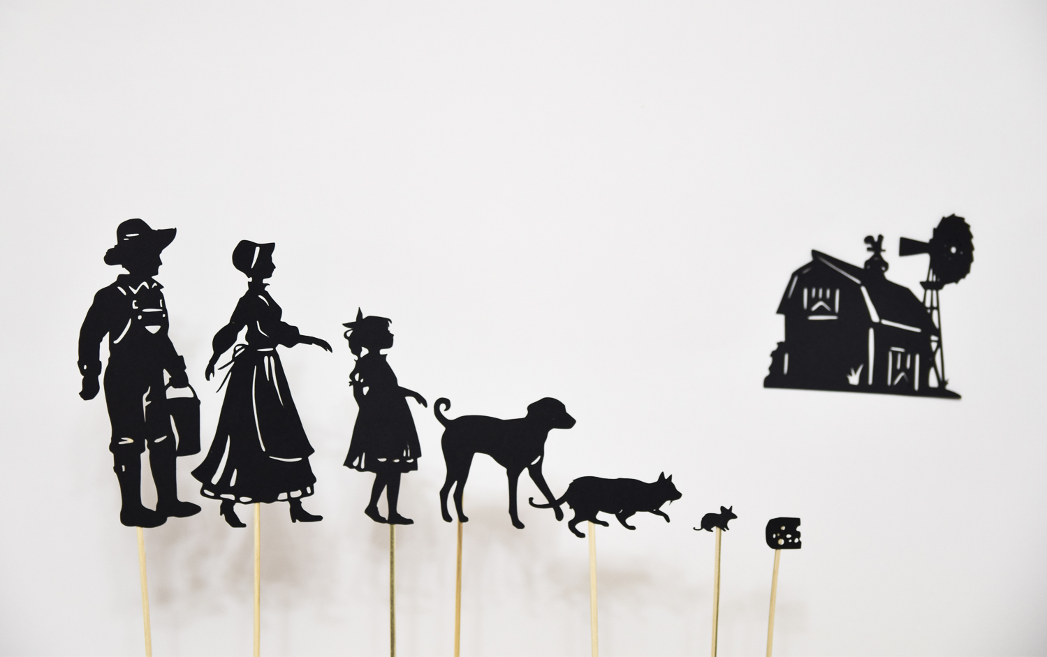 Farm Animals Shadow Puppets For Children