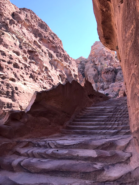 Petra Jordan Stairs to Top Viewpoint