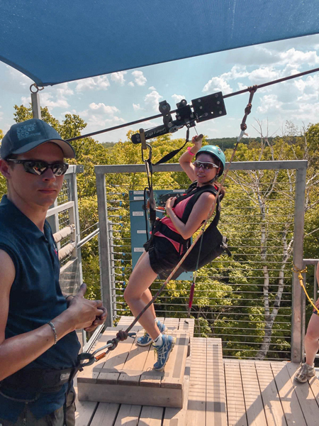 Summer Visit to Scenic Caves Ziplining