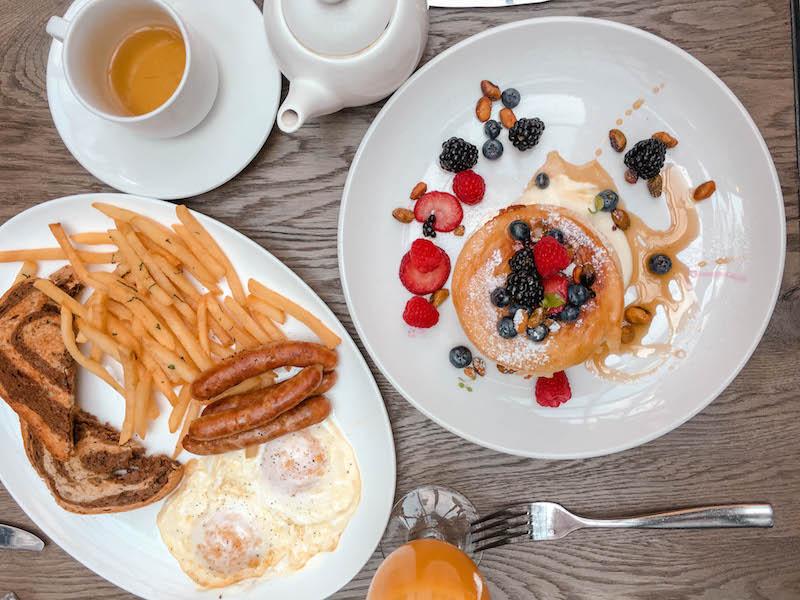 NYC Itinerary Nomo Soho Kitchen Pancakes
