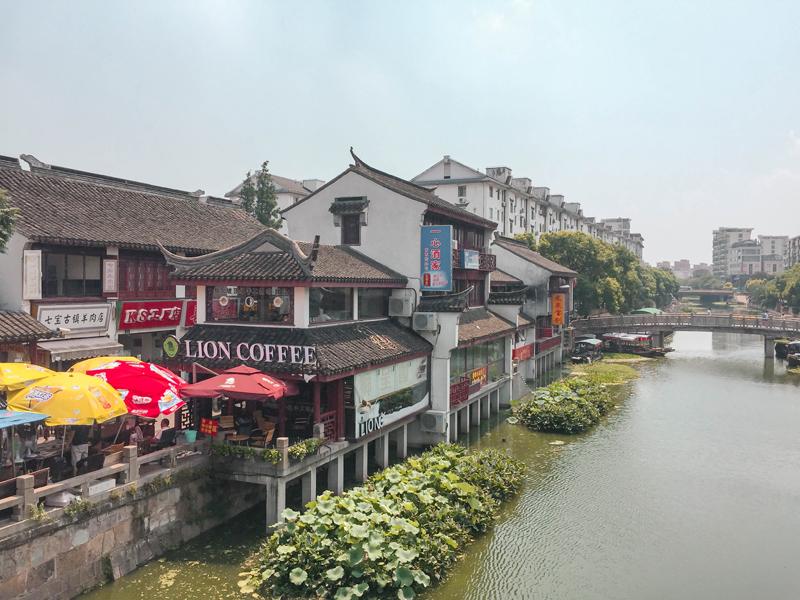 Qibao Water Town Puhui River view