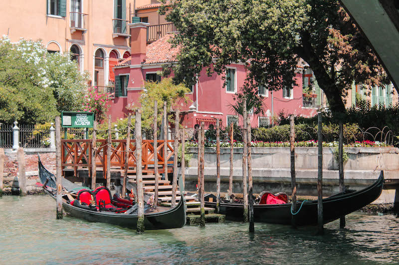 Exploring Venice Photo Diary Gondolas