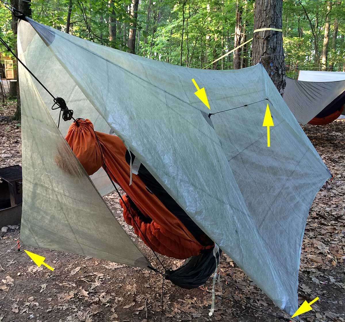 hammock doors 2 1200 great method to manage hammock tarp doors   adventure alan  rh   adventurealan
