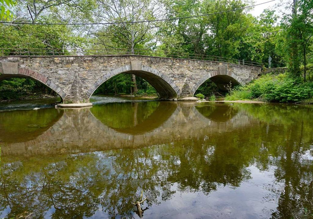 The AT goes over this bridge into the historic mill town of Boiling Springs.