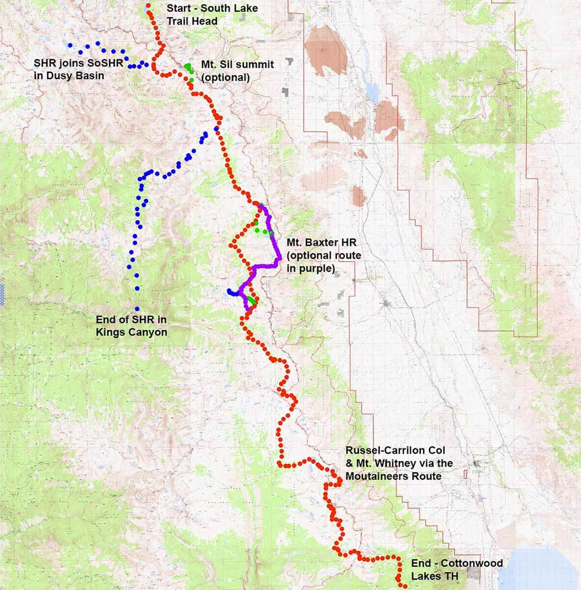 Southern Sierra High Route