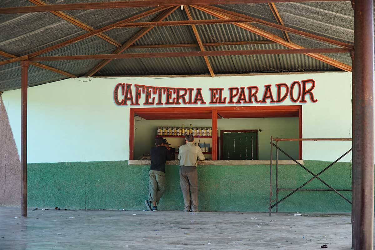 An open air dance hall the morning after Saturday night's fiesta. The small store had only strong alcohol and no food. We managed to find maltados, a sweet non-alcoholic carbonated beverage flavored with malt.