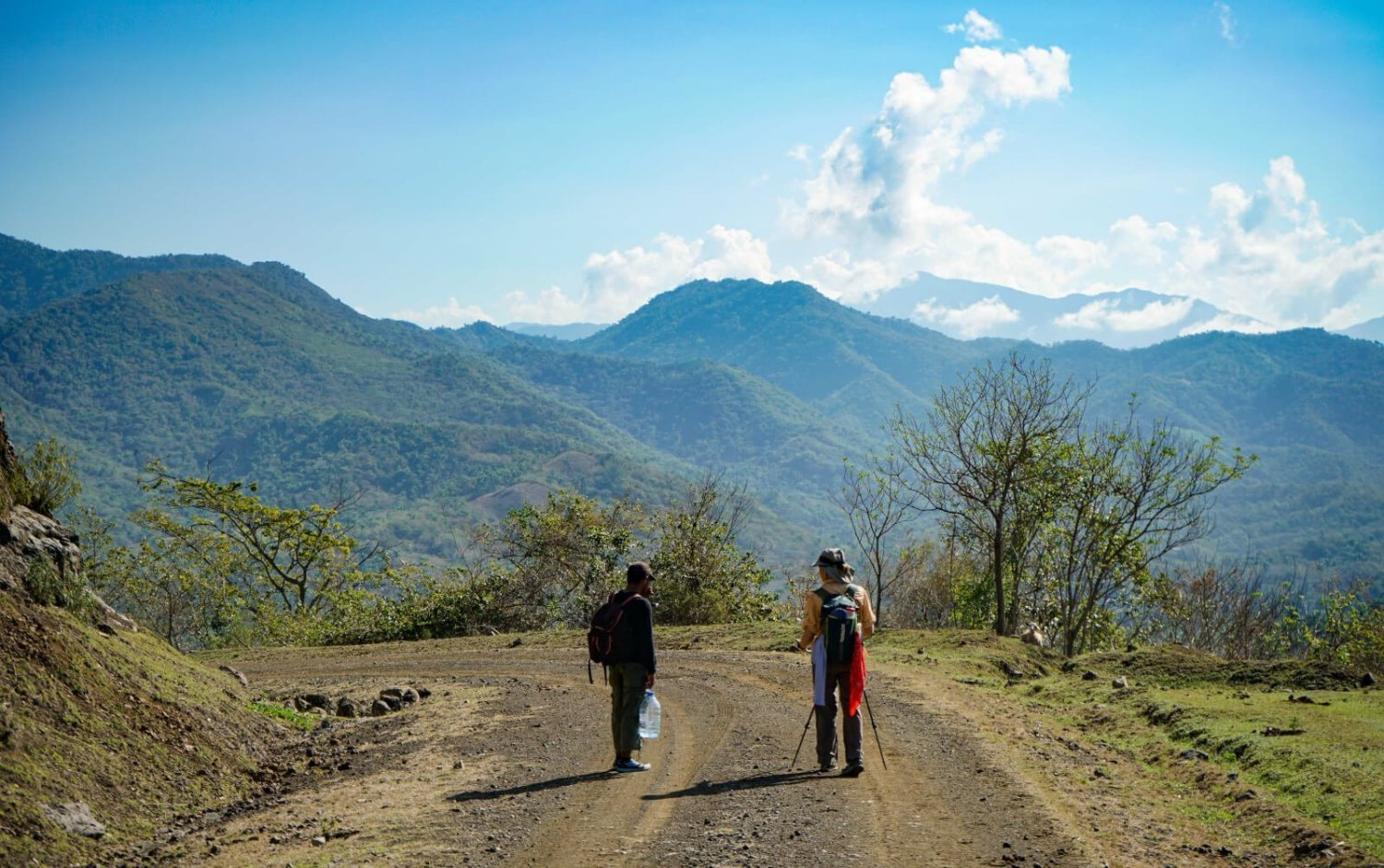 Fidel's Comandancia de la Plata is somehwere out there in the distance. One of our first views of the heart of the Sierra Maestra Mountains.