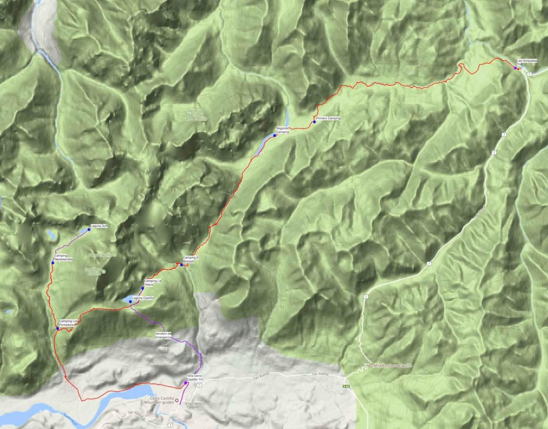 Cerro Castillo Trek Guide Map