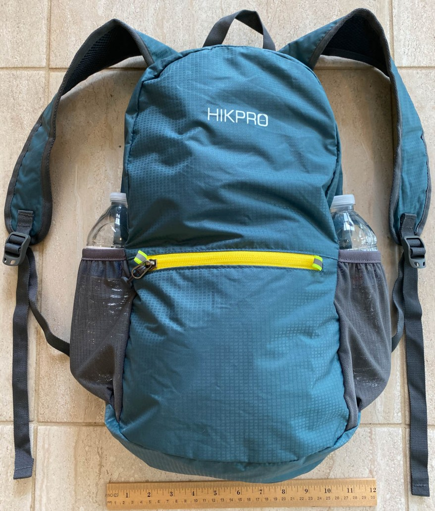HIKPRO 20L Pack   detail photo with ruler
