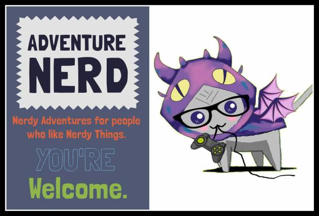 Border Adventure Nerd Graphic Sign